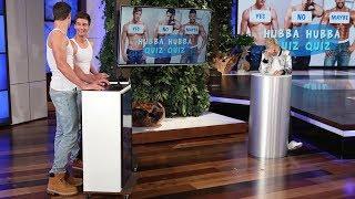 Download Ellen Tests Her Hunky Hotties in 'Hubba Hubba Quiz Quiz' Video
