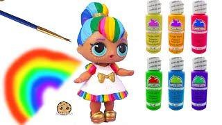 Download Rainbow BB DIY LOL Surprise Custom Makeover Painting Video - Do It Yourself Craft Video