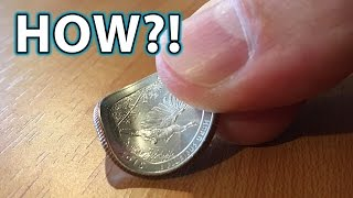 Download How to BEND a COIN with FINGERS! Magic Trick! Video