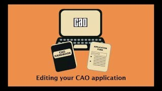 Download Editing your CAO application Video