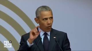 Download WATCH: Barack Obama delivers the annual Nelson Mandela lecture in Johannesburg Video