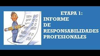 Download Soy Docente: ETAPA 1: INFORME DE RESPONSABILIDADES (29, 2018) Video