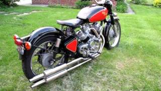 Download Enfield bullet based V twin ″The Musket″ with mufflers - start, idling, revved. Video