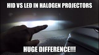 Download LED vs HID in Factory Halogen Projector Headlights Video