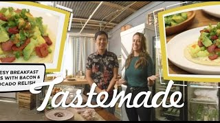Download Megan and Jimmy's 360 Breakfast Tacos | Tastemade Hors d'oeuVRes Video
