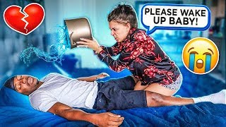 Download NOT WAKING UP PRANK ON WIFE Video