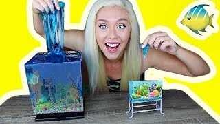 Download REAL SLIME AQUARIUM HOW TO MAKE A SLIME FISH TANK! So Satisfying! | NICOLE SKYES Video