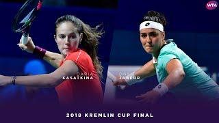 Download Daria Kasatkina vs. Ons Jabeur | 2018 Kremlin Cup Final | WTA Highlights Кубок Кремля Video