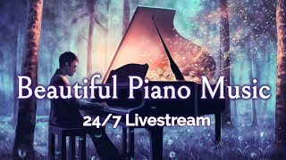 Download 🔴Beautiful Piano Music LIVE 24/7: Instrumental Music for Relaxation, Study, Stress Relief Video