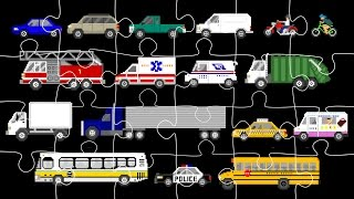 Download Street Vehicles Jigsaw Puzzle - Cars & Trucks - The Kids' Picture Show (Fun & Educational) Video