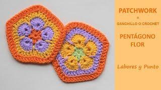 Download Como tejer pentágono flor ganchillo *patchwork* - Labores y Punto Video