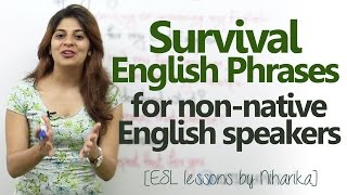 Download Survival English phrases for non-native English speakers - Free Spoken English lesson Video