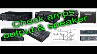 Download How to check amplifier audio, volume, sound, speaker output review Video