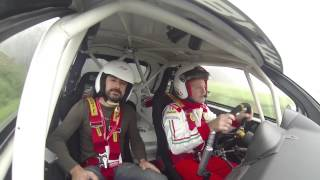 Download Co-driving with Miki Biasion in an Abarth 500 R3T rally car Video