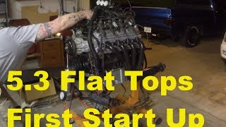 Download 5.3 with 4.8 Flat Top Pistons + TSP 220r Cam, Fist Startup - Factory Harness Wiring - LS1 LM7 Video
