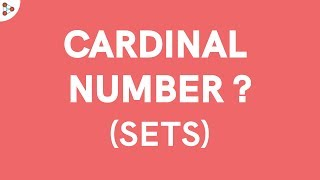 Download What is a Cardinal Number? Video