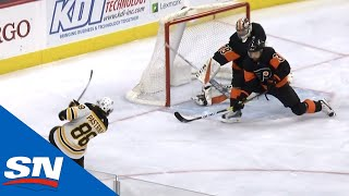 Download Torey Krug Finds David Pastrnak For One-Timer With Perfect Cross-Ice Pass Video
