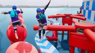 Download TOTAL WIPEOUT CHALLENGE vs MY SISTER & BRO Video
