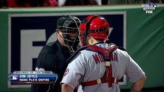 Download Molina talks with ump about Big Papi Video