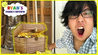 Download Ryan's Daddy Found Real Treasure in our new house alone overnight for 24 hours!!! Video