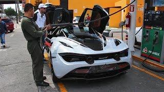 Download Llenando un tanque de un McLaren 720S en México Video