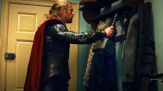 Download Thor Hangs His Hammer On Coat Rack (Scene) Thor: The Dark World (2013) Movie CLIP HD Video