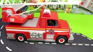 Download Fire Truck, Train, Excavator, Dump Truck, Police Cars & Tractor Construction Toy Vehicles for Kids Video