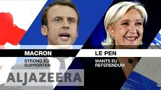 Download French election: Macron, Le Pen address French voters after first round wins Video