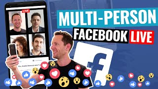 Download Facebook Live With 2 People! (how to add guests into your Facebook Live stream) Video