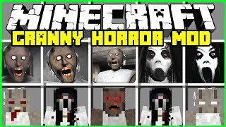 Download Minecraft GRANNY HORROR MOD! | SUMMON EVIL GRANNY & SLENDRINA! | Modded Mini-Game Video