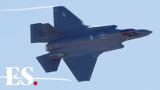 Download Iran news: US air force show off F35 fighter jet power as Trump warns Iran Video