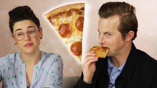 Download People Learn Gross Pizza Facts While Eating Pizza Video