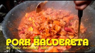 Download Pinoy Pork Kaldereta cooked at the Backyard ~ Dec.2016 Video