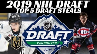 Download 2019 NHL Draft - Top 5 Draft Steals Video