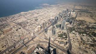 Download From the top of the Burj Khalifa's spire 828 m (aka Burj Dubai) video , 31 December 2009 Video
