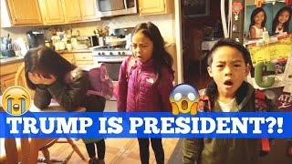 Download KIDS REACTION TO TRUMP WINNING ELECTION 2016 Video