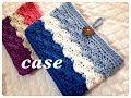 Download 通帳ケースなどに♪3色で作るボタンループ付き収納ポーチの編み方♪Crochet☆鉤針入門☆かぎ針編み物 Video