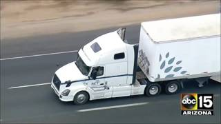 Download LIVE: California Highway Patrol in pursuit of a semi-truck. Video