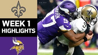 Download Saints vs. Vikings | NFL Week 1 Game Highlights Video