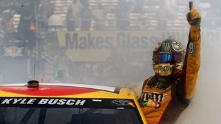 Download Kyle Busch hangs out of his car window during a burnout! | Watkins Glen (2013) Video