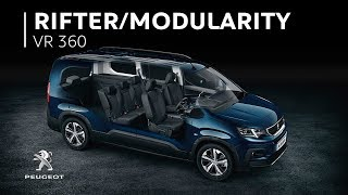 Download 7-seat Modularity - Peugeot Rifter I VR 360 Video