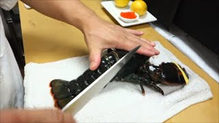 Download EXTREMELY GRAPHIC: Live Maine Lobster For Sashimi Part 1 - How To Make Sushi Series Video