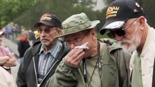Download A heart-rending visit for vets at Vietnam Memorial Wall Video