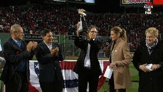 Download Red Sox presented with AL trophy Video