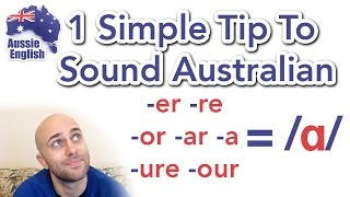 Download 1 Simple Tip To Sound Australian: /ɑ/ | How To Do an Aussie Accent Video