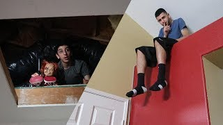 Download CRAZY HIDE AND SEEK IN OUR HAUNTED HOUSE!! Video