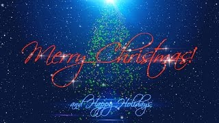 Download Merry Christmas & Happy Holidays ( v 489 ) with timer + sound effects 4k Video