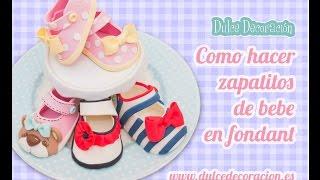 Download Como hacer zapatos de bebé en fondant / how to make baby girl shoes Video