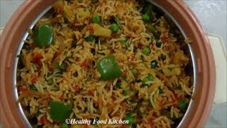 Download Spicy Vegetable Pulao - Variety Rice Recipe By Healthy Food Kitchen Video