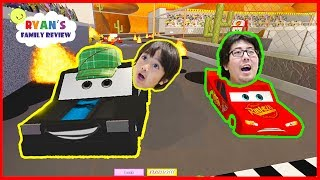 Download Disney Cars 3 Save Lightning McQueen Roblox Obby!! with Ryan's Family Review Video